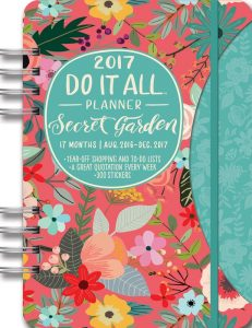 secret garden floral planner